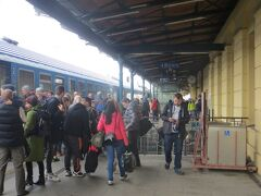 13時50分。プルゼニュ駅に到着。チェスケー ブディェヨヴィツェ行きに乗り換えます。