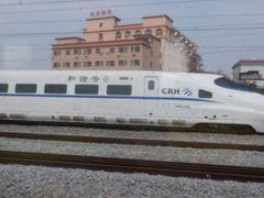 高速鉄道和階号が追い抜いていくと広州駅が近いです。