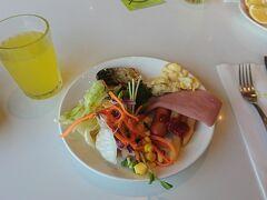 朝食ビュッフェは、洋食や和食、台湾食がありましたが、洋食を中心にいただきました。
