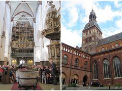 <リガ> 旧市街 リガ大聖堂(1211年-18世紀後半築)。正午から30分程度、ミニオルガンコンサート(10ユーロ)鑑賞。前後に回廊なども見学できます。