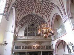 <リガ> 旧市街 聖ヨハネ教会の天井。土曜日18:00~無料のコンサートを楽しみました。