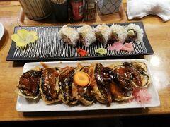 ライカムを後にして行ったのはアメリカ人向けの寿司屋さん。 何年か前に行ってまた行きたいと思っていました。 海苔巻きを天ぷらにしたものが美味しくてそれを頼みました。