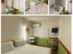 お部屋はこんな感じ。Budget Hotel ですからね。こんなもんです。連泊したい宿ではありませんね。シャンプー忘れてきたけど、備付けがあって助かりました。