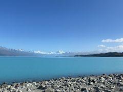 プカキ湖で一休み
