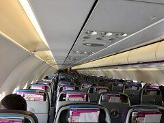 そして飛行機に乗り込みます。  実はこの日より、台湾から日本への渡航が制限されました。 その影響か、帰りのpeachはガラガラ。  ちょっとびっくりでした。