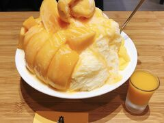 「goman mango」豪華芒果雪花もマンゴーが新鮮で美味しくてお勧め 4~11月は愛文マンゴー、12~3月は黄金マンゴーと冬でも生マンゴーが食べられる
