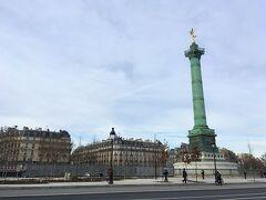 今度はバスティーユ広場です。 地下鉄っていいな~と改めて思いました。