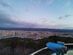 展望台からは高知市を一望。朝の綺麗な景色を堪能です