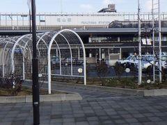 JR福山駅。 高速バスを利用したが、到着したのは駅。