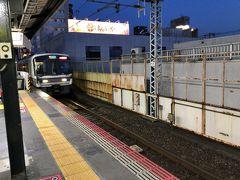 新今宮駅で下車して、いつもの餃子の王将で夕食、  大阪環状線に乗ります。
