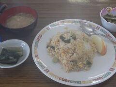 腹ごしらえ 野沢菜チャーハンがgood(左端は水です、誤解なきよう、笑)