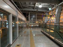 約10分ほどで金海空港駅に到着。 本当にこの電車ルートは早くて楽。