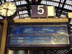 12月29日 日曜日 ケルンからベルギーのブリュッセルへの日帰り旅です。  ケルン中央駅を9:43発のICE 316に乗車。