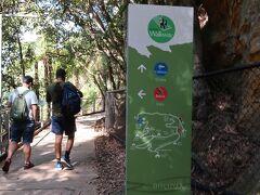 谷底のウォーク・ウェイの10分コースを歩いてみます。