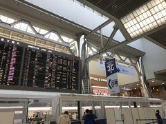 成田第二ターミナル。出国便がずらり。 チェックインの時に、2週間以内に中国に渡航したか聞かれたぐらいで、平穏でした。