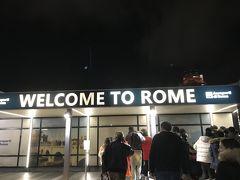 ローマに到着。すっかり夜。