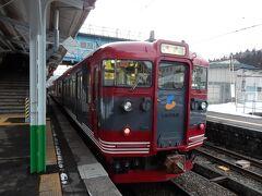 妙高高原駅到着。新潟県の端まできました。  ここから先はお昼ごろ乗っていたしなの鉄道。