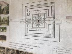 タプローム寺院の地図。 ここは12世紀末にクメール王朝の王が母を弔うために造った仏教寺院、その後にヒンズー寺院になっている。