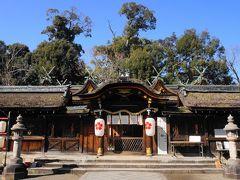 中門の奥の本殿は4殿2棟からなり、「平野造」とも称される独特の形式の造りで、国の重要文化財に指定されています。 1殿1柱ずつ祀られています。
