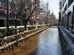 高瀬川は鴨川に沿うように流れています。 川沿いには桜や柳があり、風情ある散策が楽しめます。