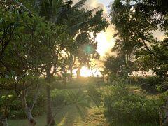 朝~~~最後の朝もいい天気。 海から昇る朝日を見れる部屋にして良かった。