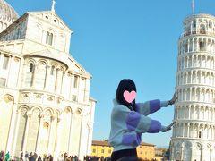 ピサに来たらまずはお決まりの写真を撮ります。 旅行記を作るにあたり、写真を「自動調整」で編集すると、斜塔がまっすぐにされてしまい、困りました(笑)