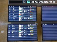やってきた成田空港。 間違えて北ウィングに来てしまいました。中国への便は欠航…。