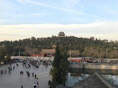 故宮博物院の北側にある景山公園。