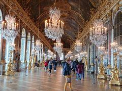 ここでベルサイユ条約が締結されたのですね~  鏡の回廊を後にします。 ここに来るとベルサイユ宮殿に来て良かったと強く思います。
