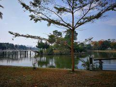 しばらく歩くと蓮池潭に到着。  蓮池潭は高雄市のはずれ左営区に位置する全長1.4Kmほどの湖です。この湖の周囲には、中華風な塔や寺廟(孔子廟・龍虎塔・春秋閣など)が立ち並んでいる有名な観光スポットの一つ。・・・台北ナビより