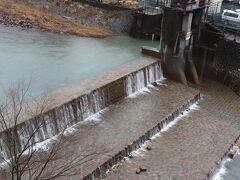 雨で増水した早川。 「ゴォォー」とうるさい。