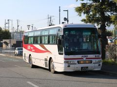 中央道韮崎バス停から高速バスで帰宅