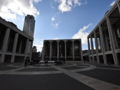 奥が目的地、メトロポリタンオペラ 左は、シティー劇場(クリスマスシーズンのくるみ割り人形が有名) 右は、ニューヨーク交響楽団の拠点