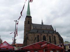 チェコ最大の塔(102.26m)を持つゴシック様式の聖バルトロメオ教会(聖バルトロムミェイ教会)。