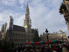 グランプラスで最も高い建物のブリュッセル市庁舎。