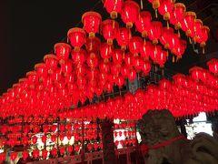 赤い提灯の慈誠宮。