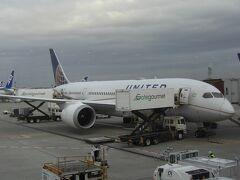 2020年2月7日 16:55 成田空港 UA838便 ユナイテッド  サンフランシスコ 9:10到着