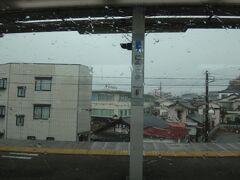 韮崎。  すこし小降りになった。