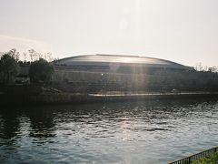 大阪城ホール、全景。