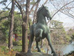 源頼朝の愛馬池月の像もあの時以来の登場