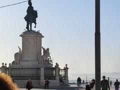 テージョ川のそばにある、コメルシオ広場。 広場の中心には、ドン・ジョゼ1世の騎馬像がある。
