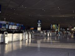 成田空港ガラガラ。早朝ってこともあるけど・・