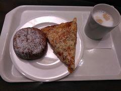 ●フレッシュベーカリー神戸屋@JR森ノ宮駅  駅の改札外にあるパン屋さんで、朝食を頂きました。 あんぱん、ピザぱん、大好き!