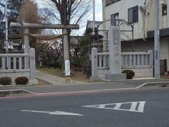 「本宿天神社 一級社天神社」11:13通過。「多聞寺交差点」横にあります。