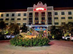 ホテルの無料送迎を利用して2泊する「プリンスダンコールホテル」に到着しました。