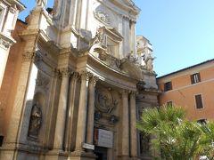 トレヴィの泉をあとに、コルソ通りにあった教会へ入ってみました。