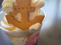 ソフトクリームを。  日本人のバリスタが淹れるコーヒーも評判だそうですが、 暑くて・・。