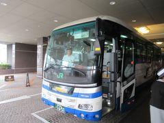 JRバスの観光バスに乗車します。 定期観光バスになります。 「善光寺・戸隠と小布施号」です。