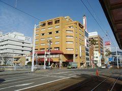 坂出経由で高知に到着。 宿泊予定のホテル高砂です。