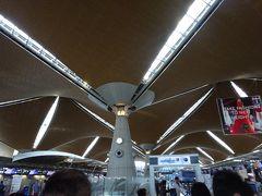 空港に着くとアブラヤシをイメージした大きな柱。 アブラヤシから取れるパーム油は世界シェアの75パーセント、マレーシアの一大産業です。 ここでガイドさんとはお別れ、お世話になりました。